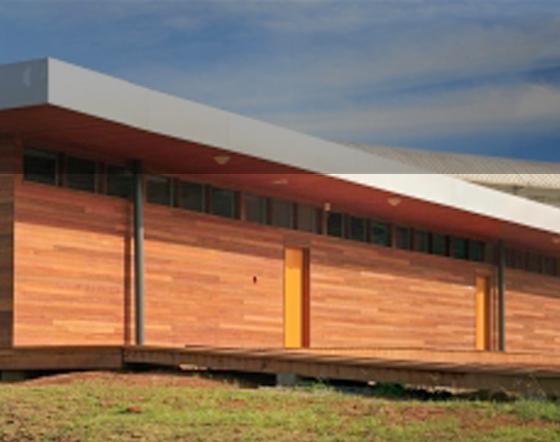 Un bâtiment en bois